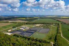 在德国的北部的EuropeÂ的最大的有毒废料垃圾填埋Ihlenberg 免版税库存图片