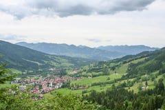 在德国的阿尔卑斯的壮观的看法 图库摄影