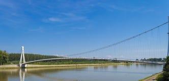 在德拉瓦河的吊桥 库存照片