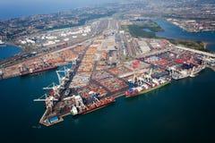 在德班港口视图之上 免版税库存图片