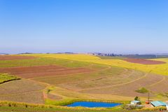 在德班,南Afri附近的一千小山的谷的看法 免版税库存照片