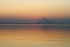 在德诺尔出海口的日落,手表,傲德萨地区,乌克兰, 库存照片