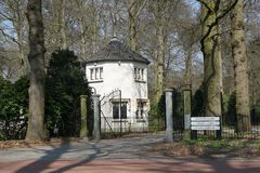 在德贝里附近的Beerschoten森林在荷兰 库存照片