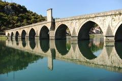在德里纳河河的桥梁在维谢格拉德 库存图片
