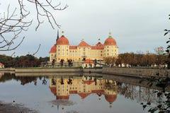 在德累斯顿附近的宫殿莫里茨堡 图库摄影