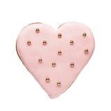 在心脏形状的曲奇饼  免版税图库摄影