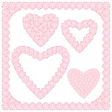 在心脏形状的桃子花 免版税库存图片