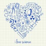 在心脏形状的科学图画 库存例证