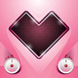 在心脏形状的立体音响  向量例证