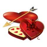 在心脏形状的糖果 图库摄影