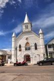 在怀特海德街上的康沃尔纪念品AME锡安教会在基韦斯特岛 免版税库存照片