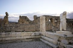 在性欲古城,艾登/土耳其废墟的人雕塑  免版税图库摄影