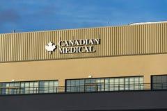 在总部修造的加拿大医疗公司商标 免版税库存照片