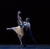 在恋人` s胳膊古典芭蕾` Austen汇集` 库存照片