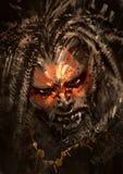 在恐怖字符的面孔的盛装
