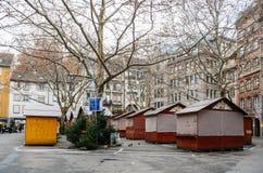 在恐怖袭击以后的史特拉斯堡法国在圣诞节市场上 免版税图库摄影