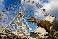 在恐龙行星,曼谷的T雷克斯 库存照片