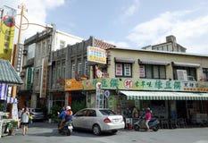 在恒春,台南,台湾的街景画 库存照片