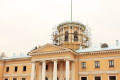 在恢复之下的历史建筑 免版税库存照片