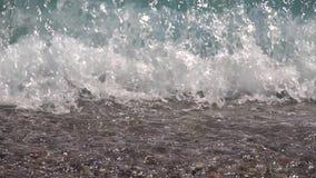 在恶劣天气期间的风雨如磐的海 慢的行动 股票视频