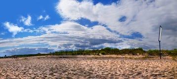 在恶劣环境测井半岛的海滩 库存照片