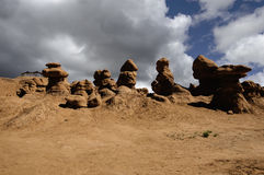 在恶鬼谷的奇怪的岩层 免版税库存图片