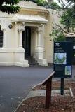 在悉尼新南威尔斯,澳大利亚降低皇家植物园的庭院零件 免版税库存图片