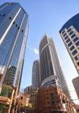 在悉尼的中央事务的现代大厦 免版税库存照片