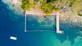 在悉尼的美丽的岩石水池游泳斑点 库存照片