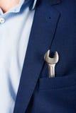 在您的口袋衣服的钥匙 免版税库存照片