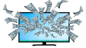 在您的屏幕的金钱 免版税图库摄影