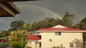 在您的房子的彩虹 库存图片