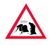 在您的狗标志以后清扫 免版税库存图片