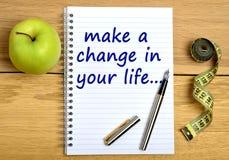 在您的生活中做一个变动 免版税库存照片