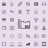 在您的电话概述象的联络 详细的套minimalistic线象 优质图形设计 其中一个汇集象 库存例证
