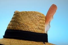 在您的盖帽的一根羽毛 库存照片