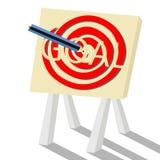 在您的目标概念的焦点 免版税库存照片