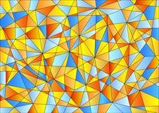 在愉快的颜色的抽象几何样式 免版税库存图片