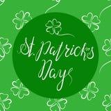 在愉快的St Patricka天上写字 免版税库存照片