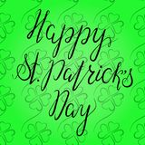 在愉快的St Patricka天上写字 图库摄影