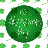 在愉快的St Patricka天上写字 库存图片