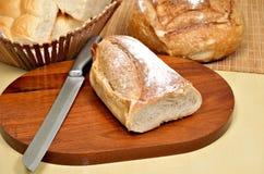 在意大利人上添面包 免版税库存照片