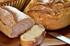在意大利人上添面包 库存图片