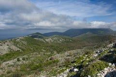 在意大利山的秋天 免版税库存照片