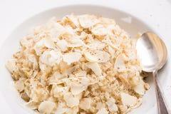 在意大利煨饭米的被刮的不幸 免版税库存照片