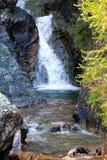 在意大利白云岩的瀑布 库存图片