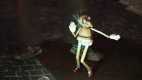 在意大利街道上的木偶剧院 股票视频