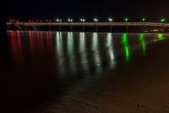 在意大利语中的滨海弗兰卡维拉码头 图库摄影