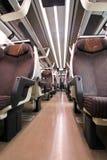 在意大利长途火车里面 免版税图库摄影