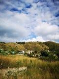 在意大利,卡拉布里亚的南部的小山 库存图片